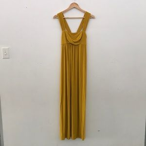 Sun & Sway Anthropologie Goldenrod Maxi Dress Med